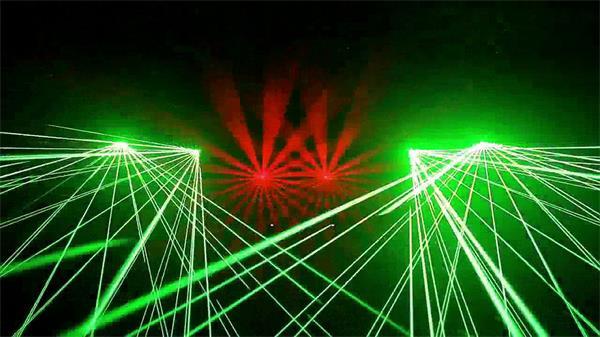 震撼炫光闪耀探射照登节奏乱射夜店酒吧LED背景视频素材