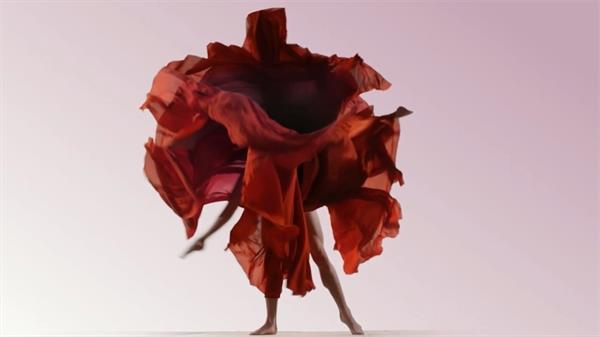 唯美舞者舞蹈殊效大屏幕静态舞台配景视频素材