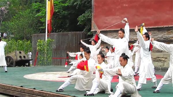 中国武术表演武当太极功夫刀术九节鞭 功夫高清实拍素材