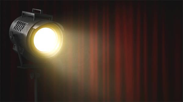 电影拍摄灯箱柔光灯照射帷幕飘浮尘粒视频素材