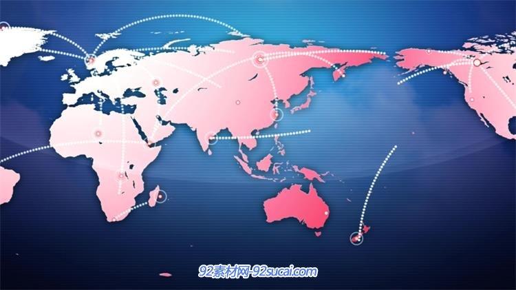 现代科技商贸物流运输线世界地图背景视频素材