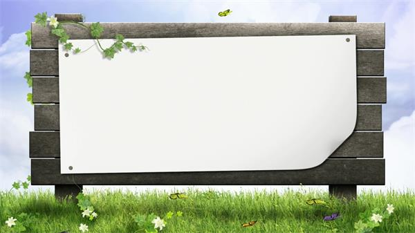 蝴蝶飞翔藤蔓轻飘抚摸公告橱窗动态LED背景视频素材