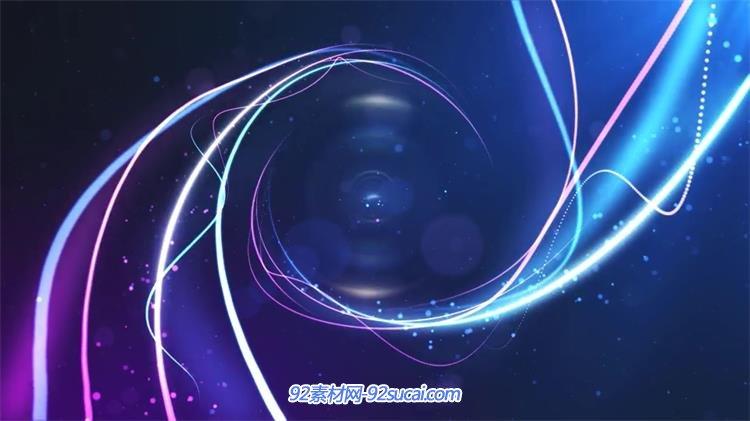 ae模板 logo标志 > ae模板 快速唯美科幻光束线条汇聚旋转合成企业
