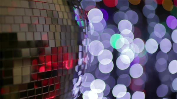 旋轉酒吧吊球光斑粒子閃爍動態LED背景視頻素材