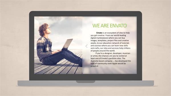 AE模板 简洁智能网址搜索企业动画展示宣传模版 AE素材