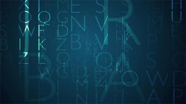 现代化信息字幕淡化缩放动态LED背景视频素材