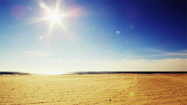【4K】烈日照耀荒废无际沙漠实拍高清视频素材