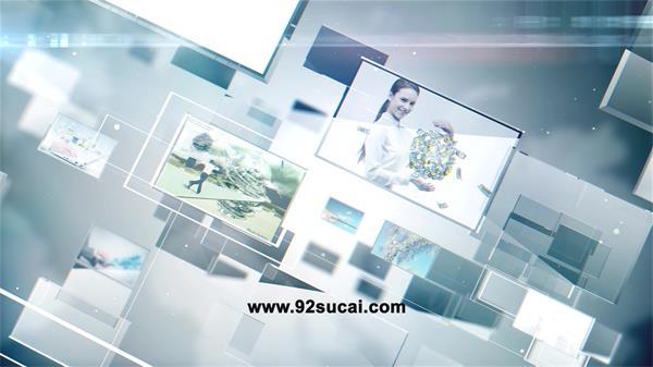 AE模板 超炫信息科技三�S空�g展示公司企�I宣��谀磕0妯u AE素材