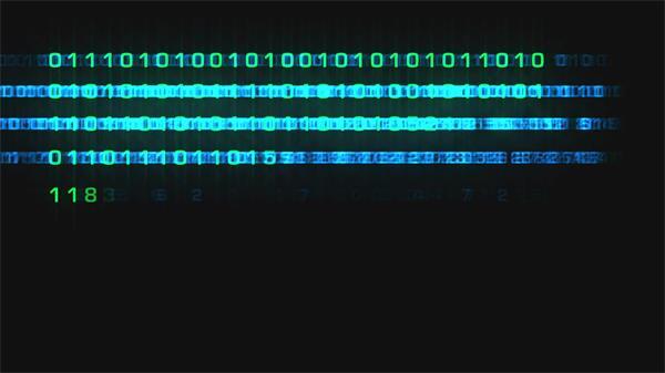 大数据时代科技信息二进制代码变化互联网视频素材