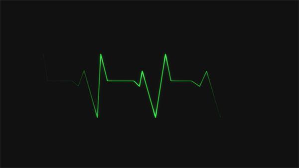 心電圖運動頻率視察心臟跳動顯示器視頻素材