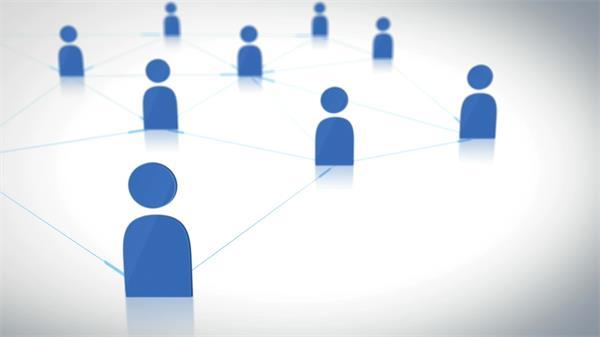 社交网络相互传递信息概略动态图LED背景视频素材