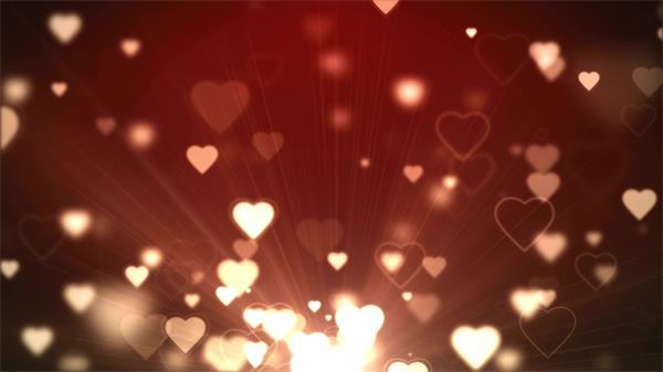 浪漫爱心漫天飞舞婚礼婚庆动态LED背景视频素材