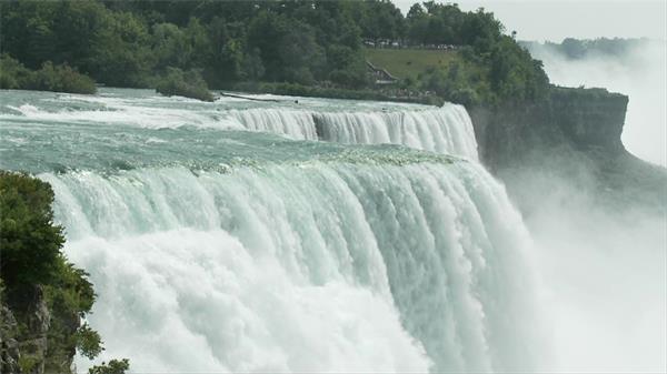 壯觀大瀑布滔滔不絕氣吞山河實拍高清視頻素材