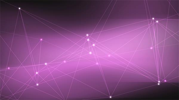 科技扁平紫色点线不规矩活动配景视频素材