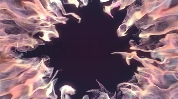 AE模板 华丽活力火焰吸收粒子爆发转换LOGO标志揭示模版 AE素材