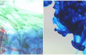10款中国风水墨变化古典墨水进水混合效果视频素材