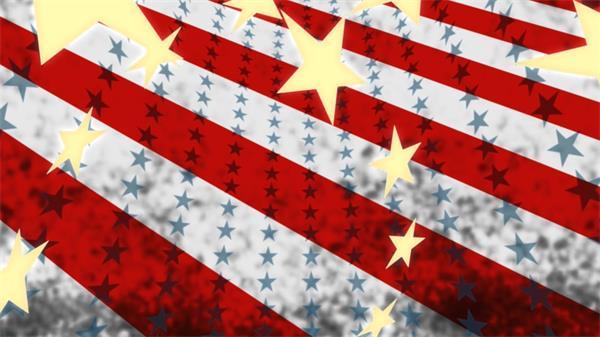 美国风国旗飘扬动态LED背景视频素材