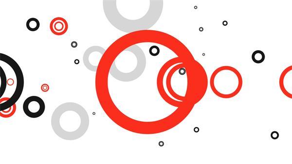 科技动感多个圆圈缩放动态背景视频素材