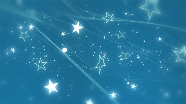 唯美浪漫线条飘舞星星飘浮粒子背景视频素材