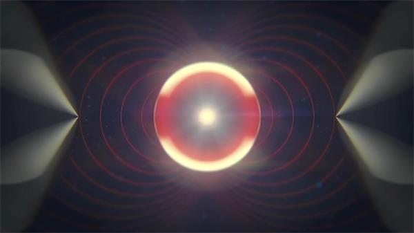 震撼圆圈光晕线性夜店动态LED背景视频素材
