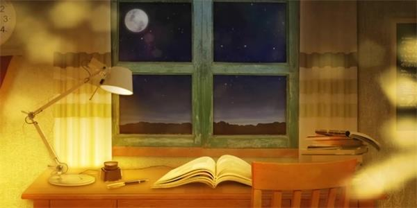 复古温馨书桌台灯书籍LED配景视频素材