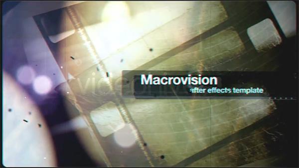 AE模板 怀旧影戏胶片作风宣传字幕标题展现模版 AE素材