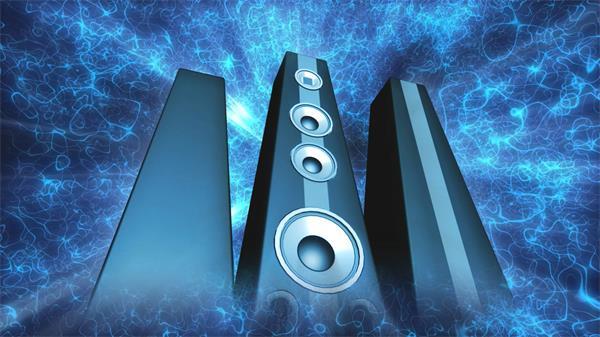 震撼动感立体音响转动播放光效线条空间移动视频素材