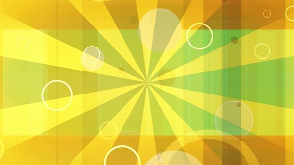 复古黄色炫光圆圈跳动静态LED配景视频素材