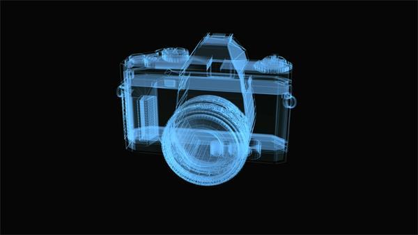 相机360度透视全视角旋转产物推行视频素材