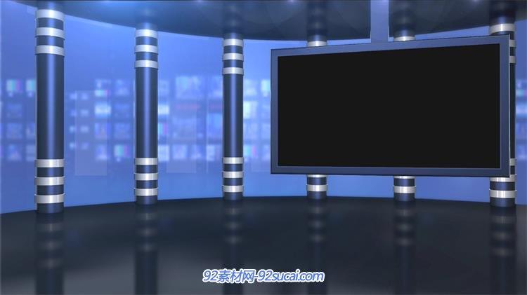 华丽灯光舞台新闻栏目主播台led背景视频素材