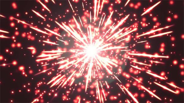 华丽绽放光效粒子线条视觉冲击穿梭时代视频素材
