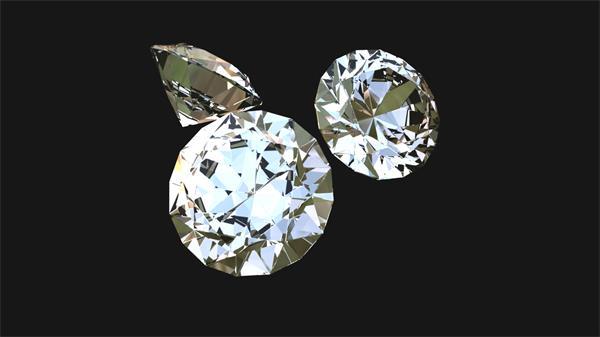 华丽高贵闪耀钻石旋转宣传婚礼视频素材
