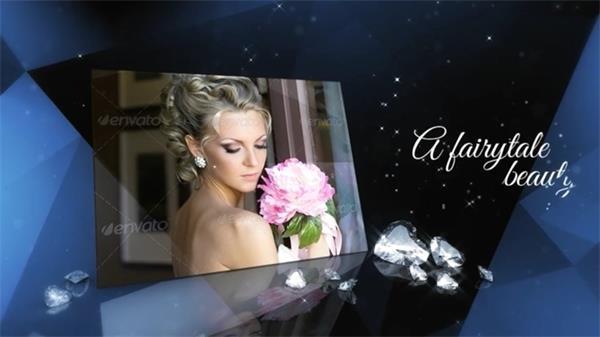 AE模板 高端大气宝石爱心遮罩悬挂婚礼相册模板 AE素材