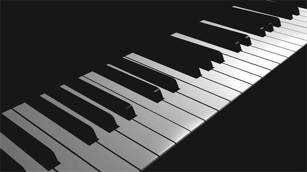钢琴音键镜头移动片头开场视频素材