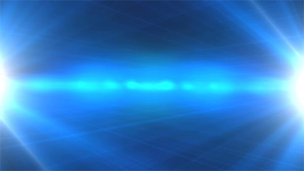 蓝色商务科技背景两边散发耀斑光芒视频素材