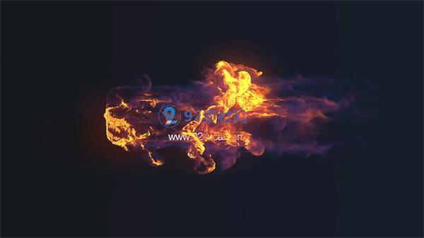 会声会影X6模板 史诗震撼视觉火焰冲击企业LOGO特效模版