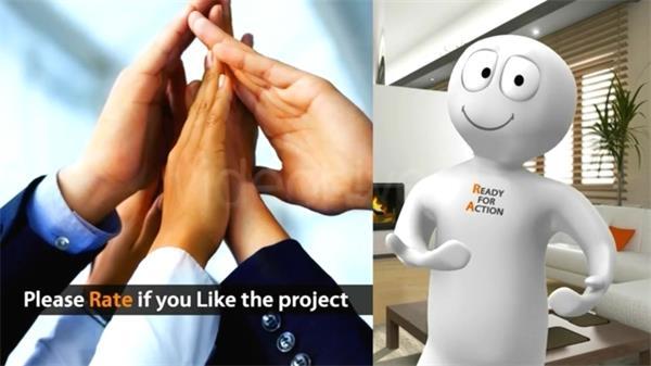 AE模板 3D人物引见公司企业产物转换切换模版 AE素材