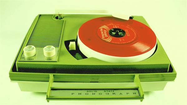 复古胶片录唱机变色滤镜展示视频实拍