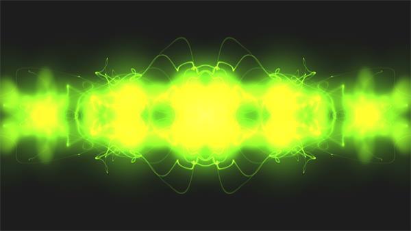 [4K]抽象明亮绿色电流科技线条视觉感受视频素材