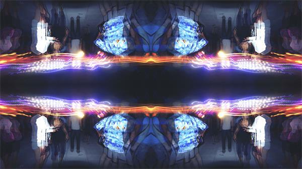 动感活力炫酷派对酒吧夜场活动鱼眼视觉LED背景视频素材