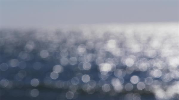 近焦距拍海面微光水波實拍高清視頻素材