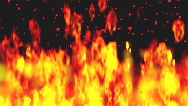 红红火焰燃烧飘浮爱心宣誓爱是恒久视频素材