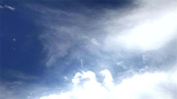 蓝天白云云层变化万千加速延时实拍高清视频素材