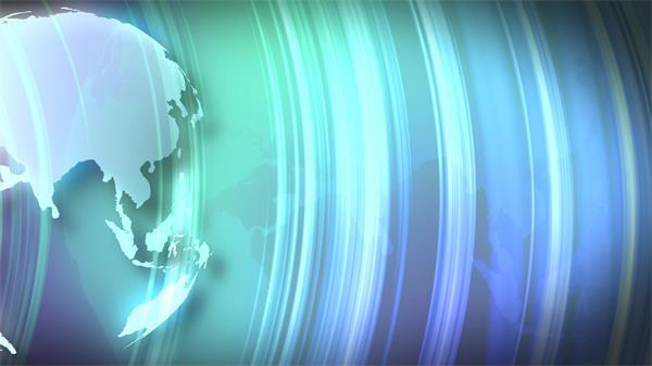 大气壮丽电视旧事栏目影视拼接地球旋转视频素材