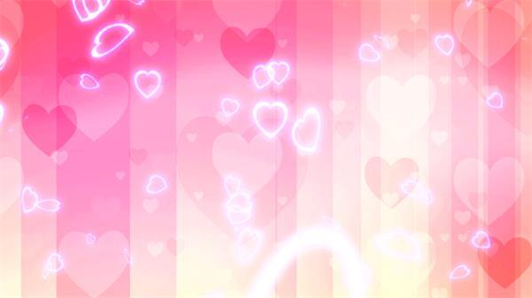 清新可爱浪漫相册光效爱心飘落婚礼背景视频素材