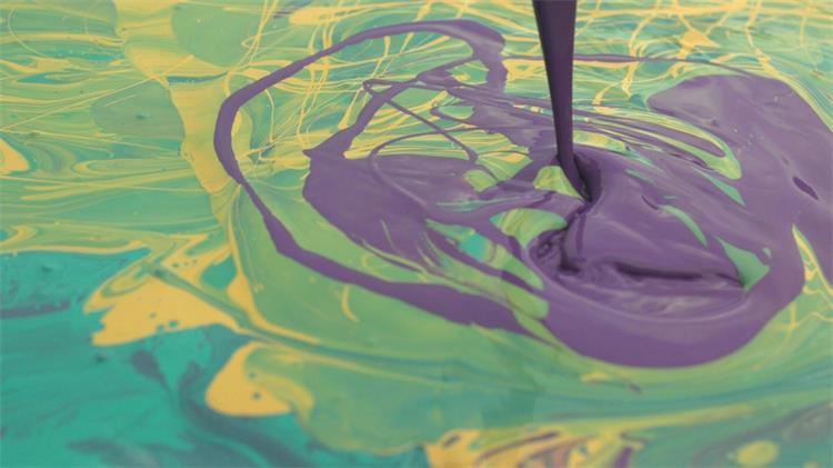 油漆飞溅艺术人生慢镜实拍高清视频素材