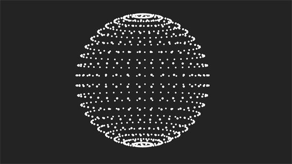 三维空间粒子架构圆球旋转视频素材