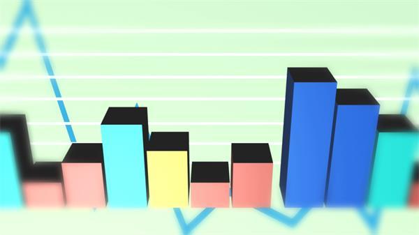商务企业图表分析柱状图曲线图跳动视频素材