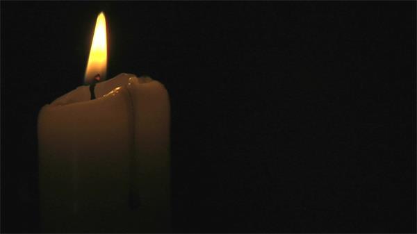 蜡烛火苗燃烧实拍高清视频素材