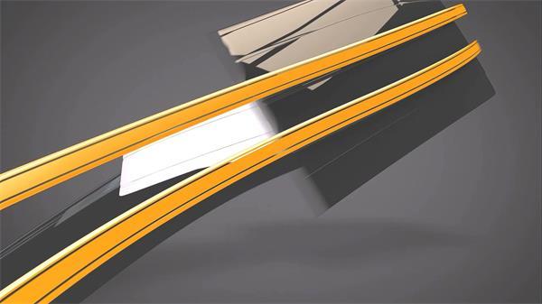 会声会影X5模板 超酷商务科技条形高速旋转淡出LOGO标志